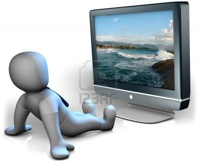 7047008-a-man-watching-a-big-tv