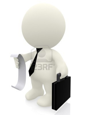 7631914-3d-business-man-reading-list-bill-isolated-over-a-white-background